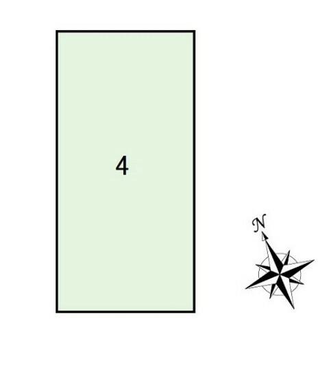 区画図 4号棟 区割り図