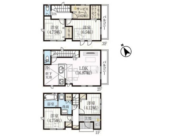 間取り図 豊富な収納スペース、新しい暮らし方に対応するプラスアルファの空間も多彩! 当物件に関するご質問・内覧のご希望はお気軽にご連絡下さい。