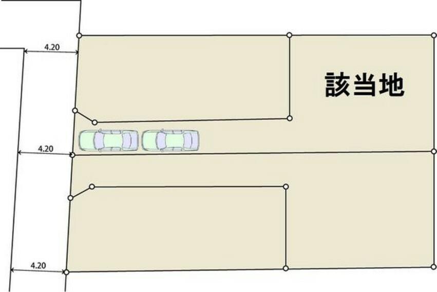 駐車場 3台駐車可能(軽)普通車2台駐車可です