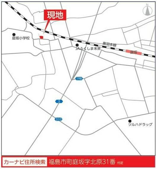 土地図面 【現地案内図】