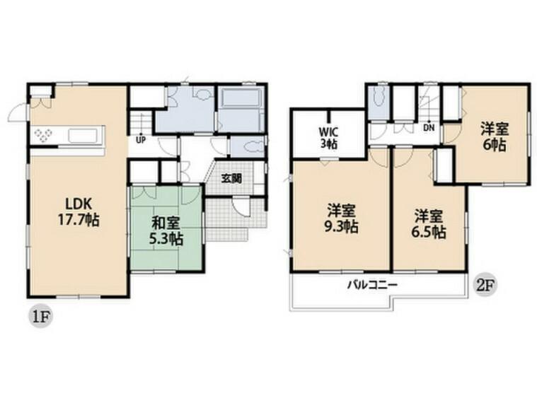 間取り図 全居室2面採光の日差しあたたかな家。