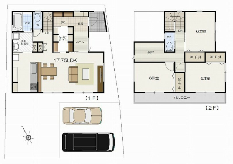 土地図面 建物プラン価格:¥17,800,000