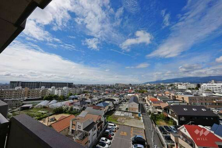 眺望 バルコニーからの眺め(南方向)目の前には高い建物がないため、日当たりも良く、お洗濯ものが良く乾きます。