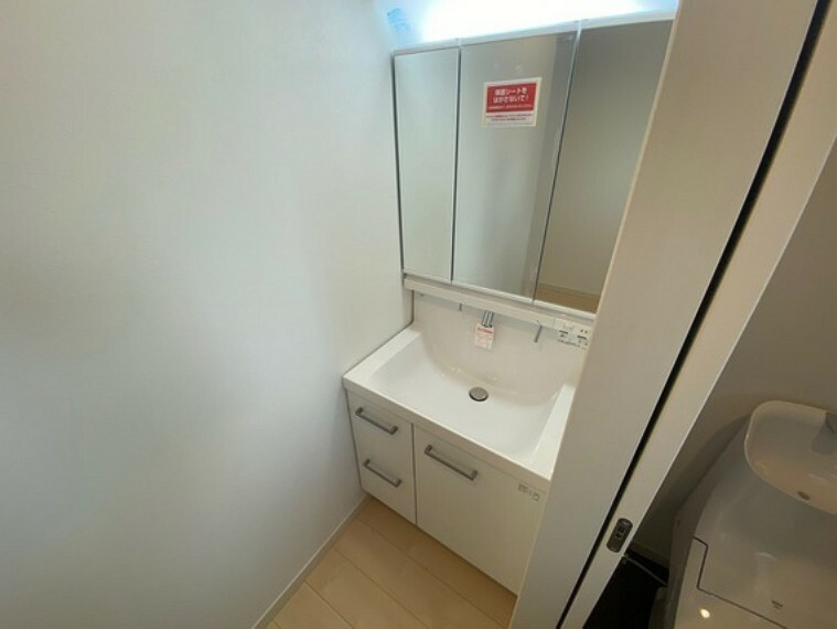 洗面化粧台 洗面台が2ヶ所あるので混み合う朝も大助かり。