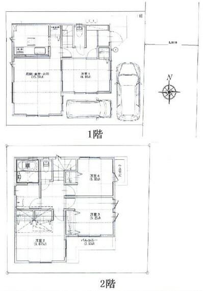 間取り図 全居室収納に加えグルニエ付きと収納豊富な4LDKです。