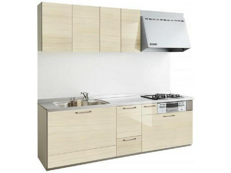 キッチン (同仕様写真)新しく設置するものと同型のキッチンです。人工大理石のワークトップはパンやパイ生地もダレずにこねられるスグレモノ。お料理のレパートリーも増えそうですね。