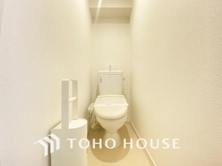 トイレ 白いクロスにより清潔感のあるトイレ