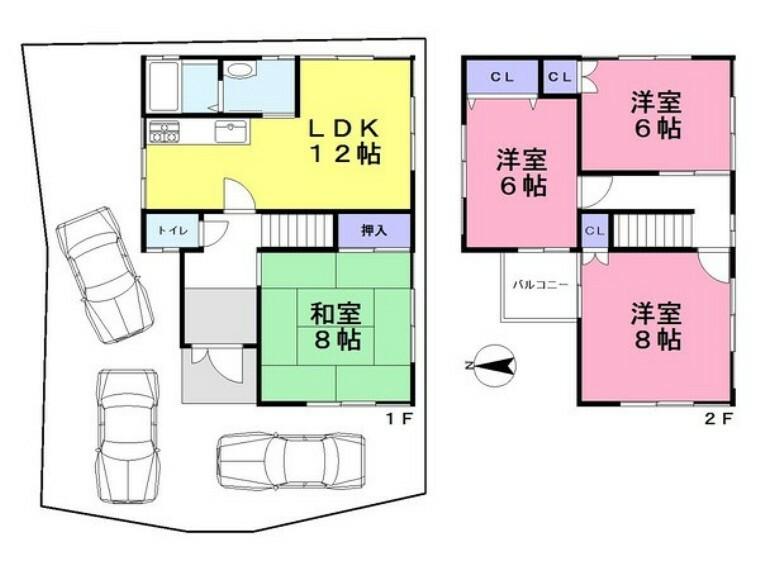 間取り図 ■全居室6帖以上の広々4LDK!バルコニー完備です!■