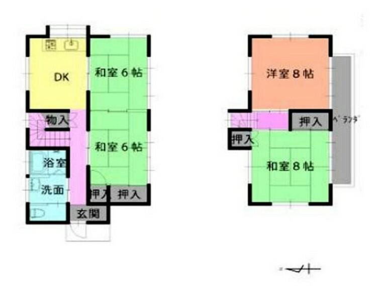 間取り図 閑静な住宅街に佇む4DKの広々としたお部屋です!! 初めてのマイホームにいかがですか? お問い合わせはセンチュリー21クレド川越店までどうぞ!