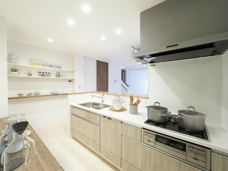 キッチン 新しいキッチンはママの夢!広くて使いやすく食洗機も付いてます!【プラン】