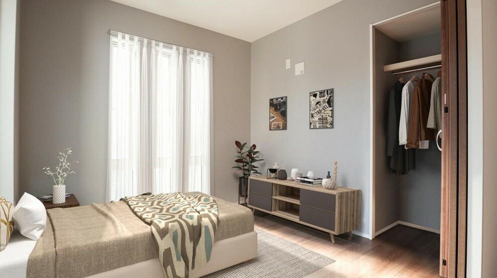 洋室 各居室にはクローゼットも付いているのでお部屋をさらに広く快適に使用できます!【プラン例】