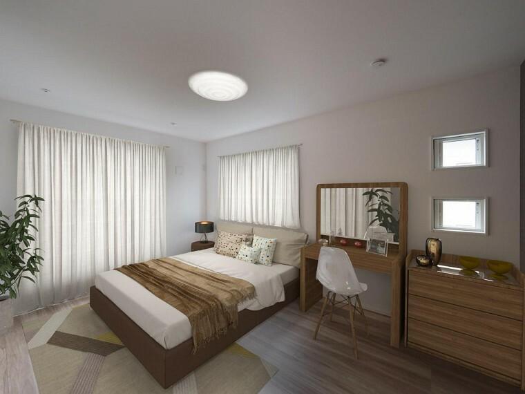 洋室 約7.3帖の主寝室は広さも十分!南西向きで明るくご夫婦が快適に過ごせます!【プラン例】
