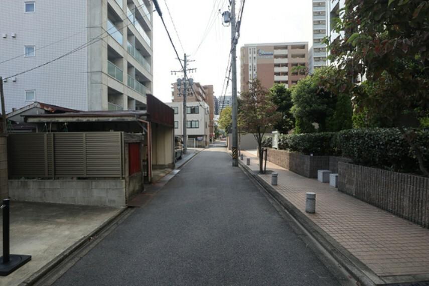 現況写真 敷地の南側前面道路(東側から)