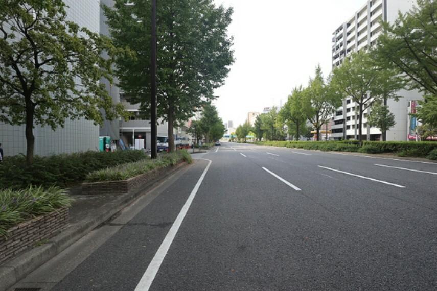 現況写真 敷地の北側前面道路(東側から)