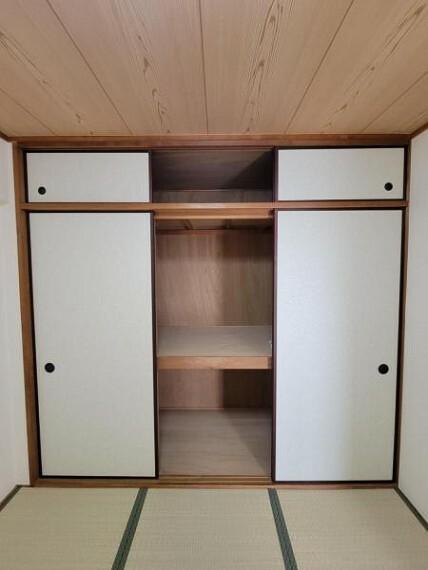 収納 和室:大型の押入れはお母さまにとってうれしいポイント
