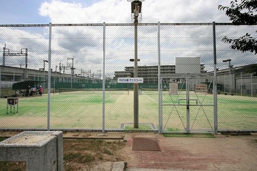 【スポーツ施設】牛之口公園テニスコートまで670m
