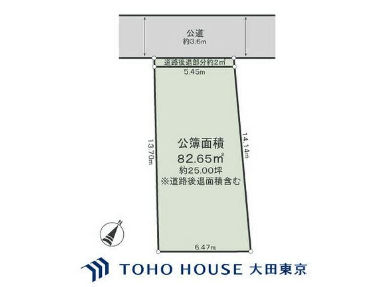 区画図 土地面積82.65m2