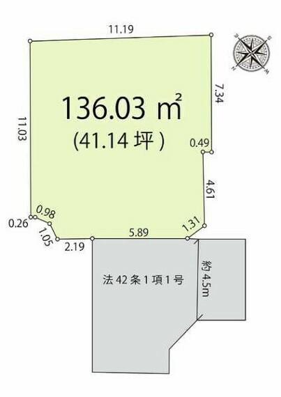 土地図面 間取図