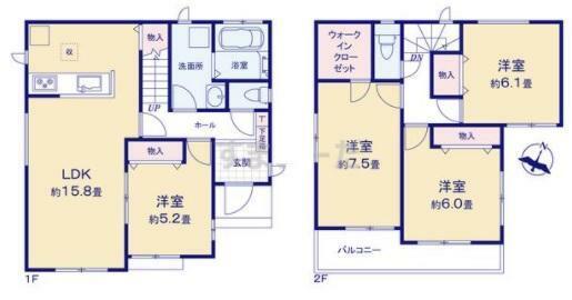 間取り図 4LDK/建物面積29.79坪