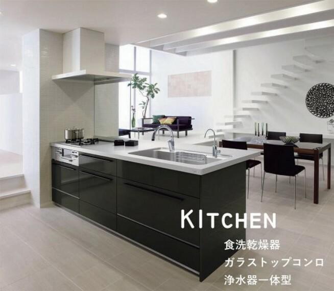 【設備仕様/LIXILシステムキッチン】 パナソニック製、リクシル製等のメーカー、扉柄やシンク等はお好きなカラーがお選び頂けます。 食洗器、スライド式の豊富な収納等、便利な機能付きです。