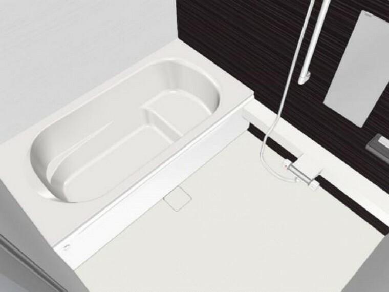 【同仕様写真】浴室はハウステック製の新品のユニットバスに交換します。足を伸ばせる1.25坪サイズの広々とした浴槽で、1日の疲れをゆっくり癒すことができますよ。