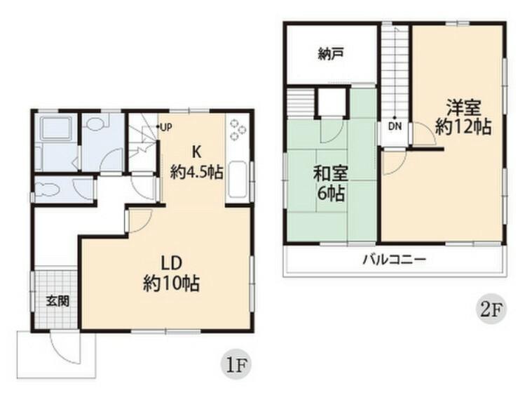 間取り図 大きな収納を備えた、全居室2面採光の明るい間取りです。