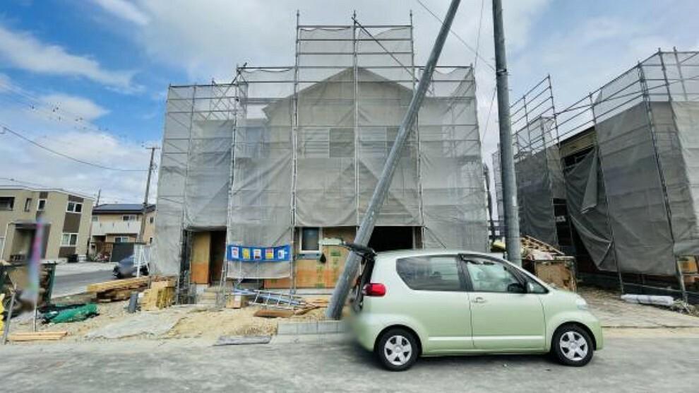 現況外観写真 現在建築中です!同社施工物件の内覧可能、お気軽にお問い合わせください。(9月17日撮影写真)