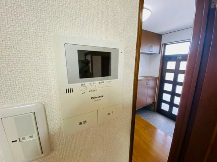 TVモニター付きインターフォン 安心のTVモニター付インターホン