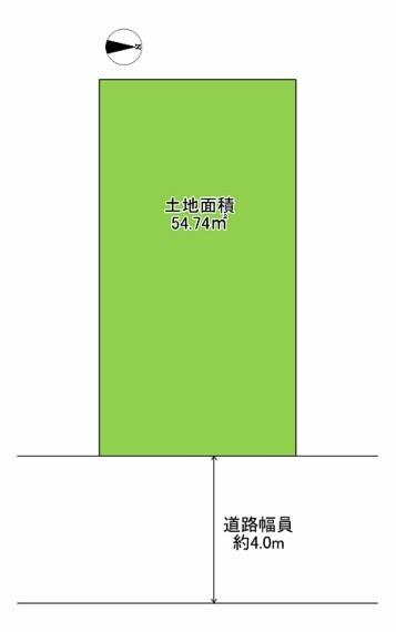 土地図面 土地面積54.74平米