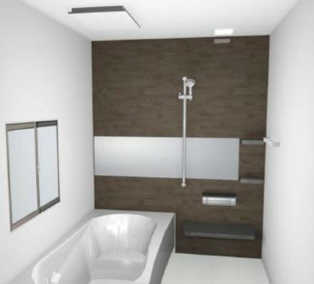 完成予想図(内観) (浴室 イメージ)パッキンレスドアで溝のカビに悩みません!1坪タイプ・浴室暖房乾燥機つきのハイテクな浴室でバスタイムを1年中快適に楽しむことが出来ます。