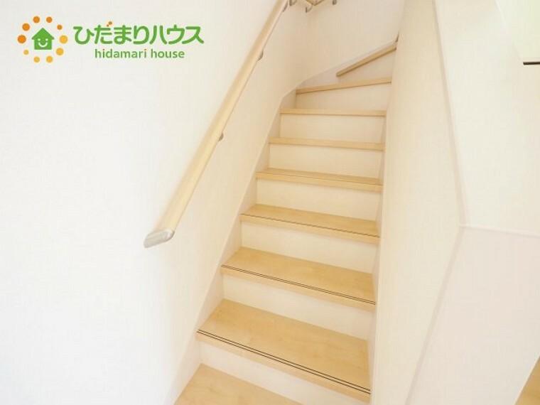 安心の手すり付き階段 彡