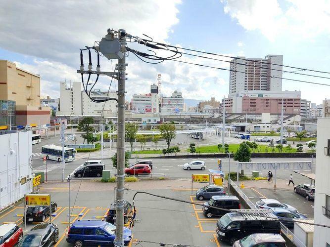 眺望 眺望。沼津駅が見えます。