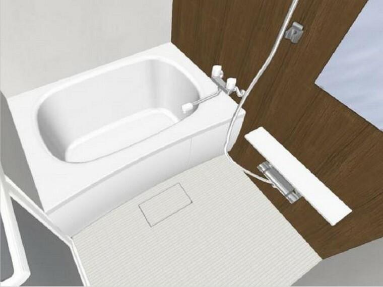 浴室 【同仕様写真】リフォーム中【ユニットバス】Panasonic製の新品のユニットバスに交換します。床は水はけがよく汚れが付きにくい加工がされているのでお掃除ラクラクです。