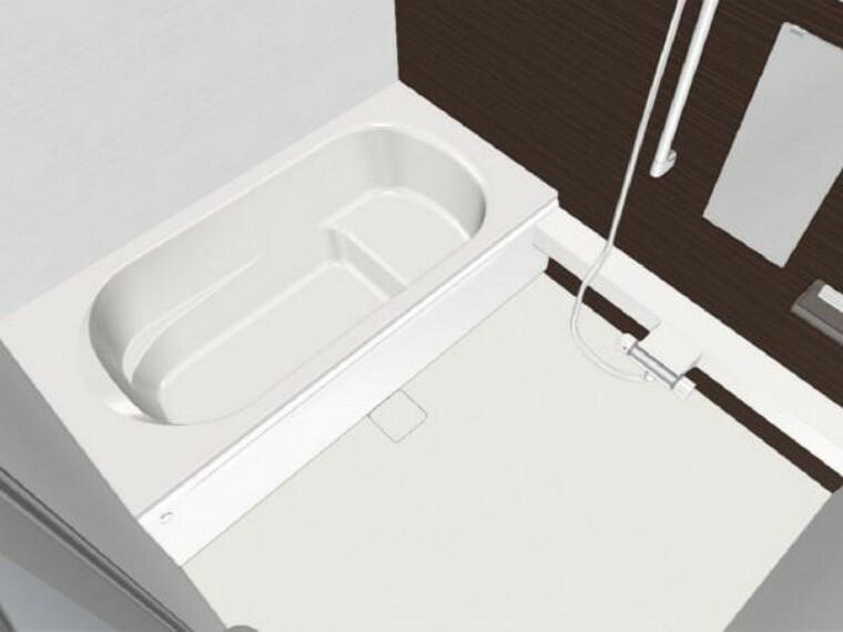 【同仕様写真】浴室はハウステック製の新品のユニットバスに交換します。浴槽には滑り止めの凹凸があり、床は濡れた状態でも滑りにくい加工がされている安心設計です。