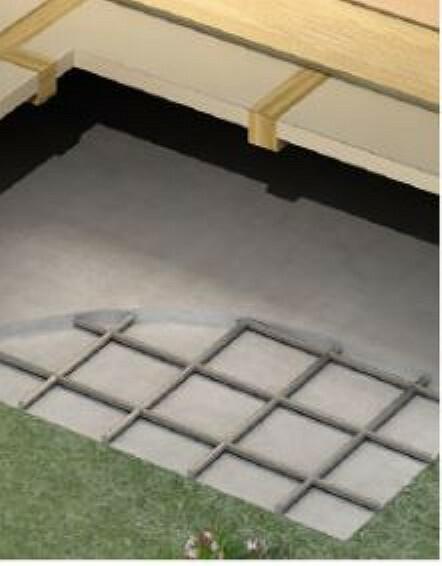 構造・工法・仕様 ベタ基礎に基礎パッキンを配し、壁倍率5倍の壁パネルを随所に配した通気口法です。着工から完成までに第三者機関による計4回の検査を通過した物件のみ引き渡しを行います。