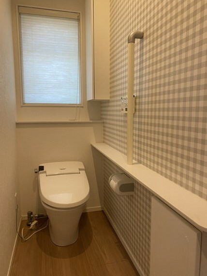 トイレ タンクレストイレ。もちろん床暖房付きです^^寒い冬も安心ですね。