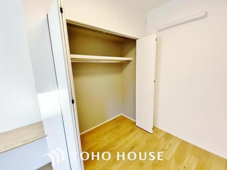 収納 「クローゼット完備」居室にはクローゼットを完備し、自由度の高い家具の配置が叶うシンプルな空間です。お子様の成長と必要になる子供部屋を与えるにはぴったりの間取りですね。