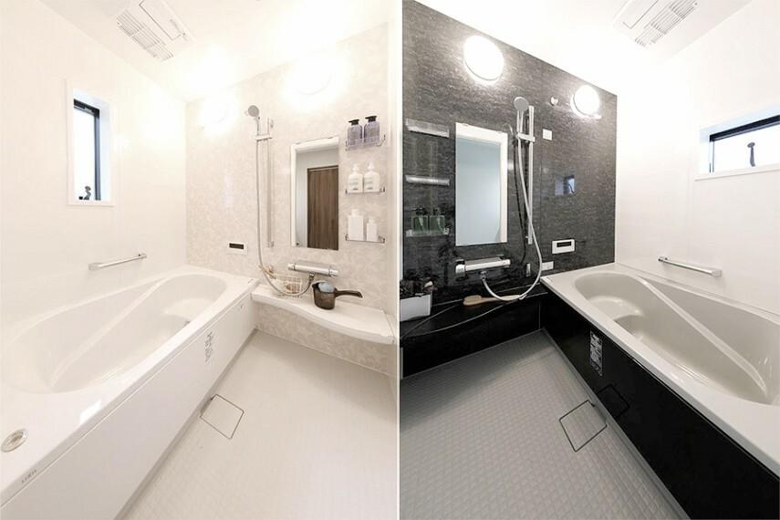 バスルーム/LIXIL「アライズ」  お湯が冷めにくい浴槽保温材と保温組フタの「ダブル保温構造」スイッチ付きエコフルシャワー&浴室暖房乾燥機付きです。