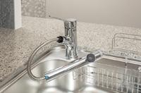 シャワー機能付浄水器一体型水栓