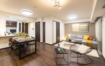 Living Dining(Gタイプモデルルーム仕様)※家具、設計変更、オプション、調度品などは販売価格に含まれておりません。