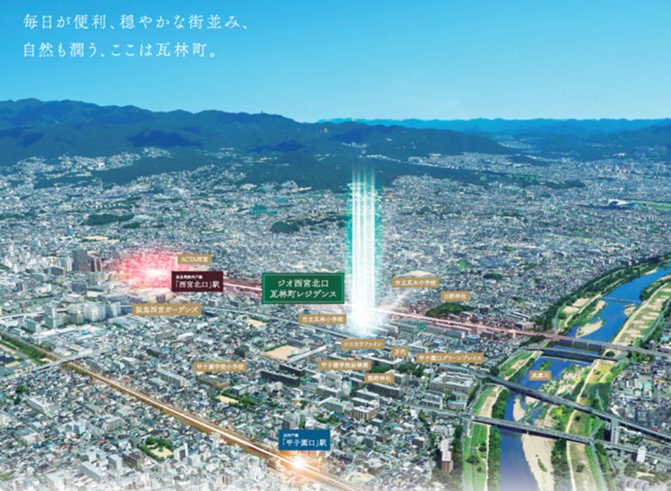 現地周辺の写真(2021年8月撮影)にCGを合成したもので実際とは異なります