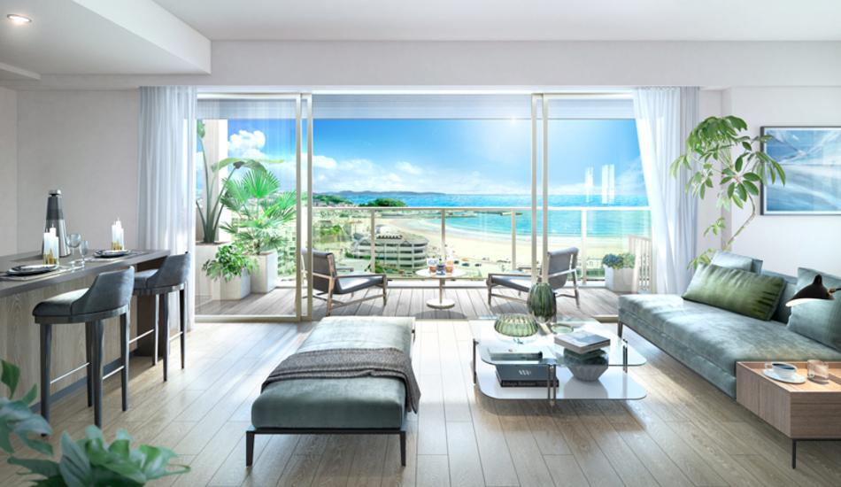 完成予想CG ※現地13階からの眺望を合成したもので実際とは異なります