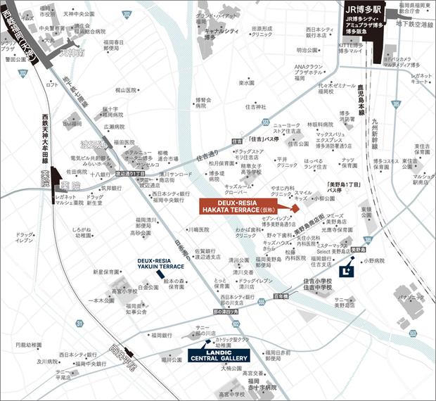 <現地・LANDIC CENTRAL GALLERY・ L+案内図>