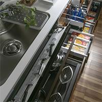スライド式キッチン収納