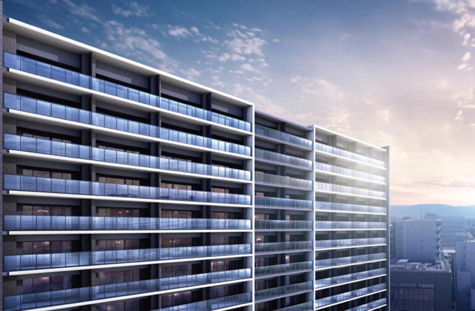 現地周辺の写真(現地7階相当から東方向を2020年5月撮影)に完成予想CGを合成したもので実際とは異なります