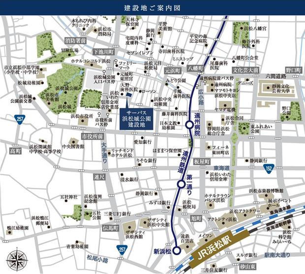 <現地案内図(広域)>
