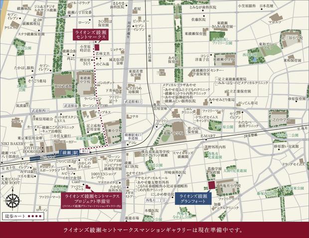 <現地・プロジェクト準備室案内図>