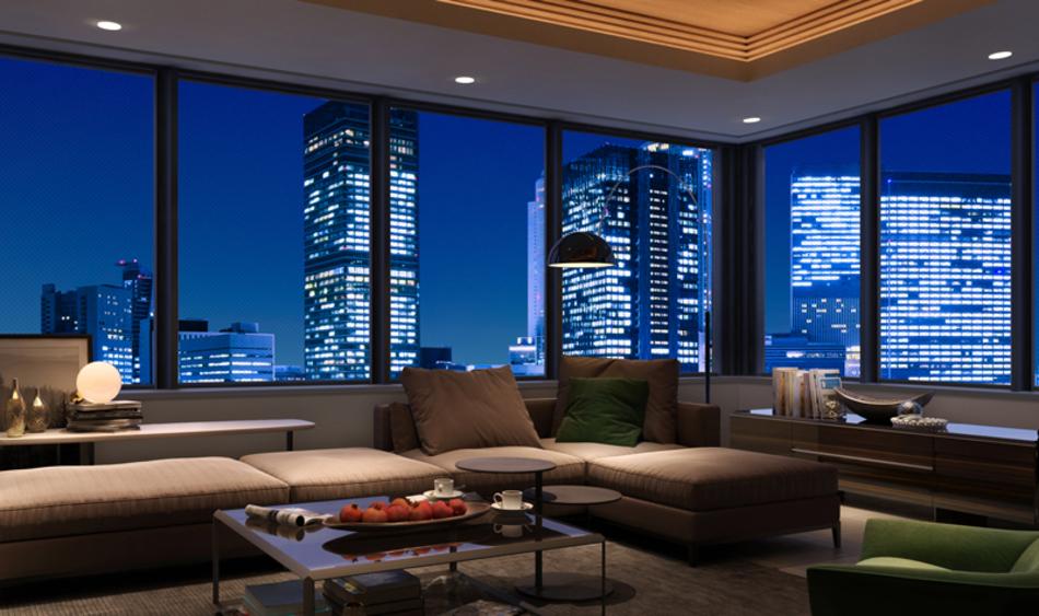 完成予想CG ※現地17階相当からの眺望(2020年5月撮影)を合成したもので実際とは異なります