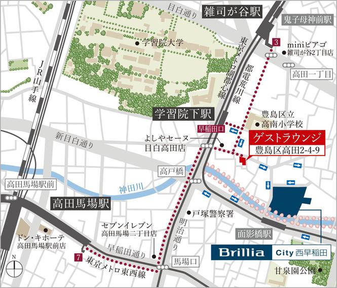 モデルルーム地図