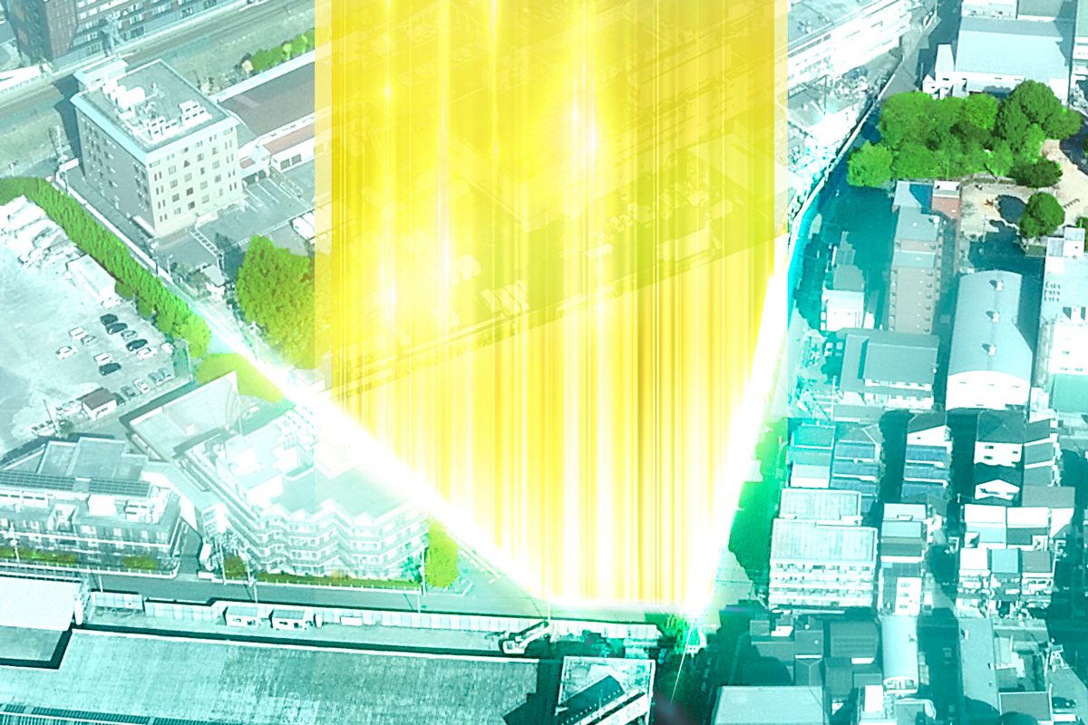 メイツ上新庄SHIN-CITY(現地周辺の写真にCGを合成したもので実際とは異なります)